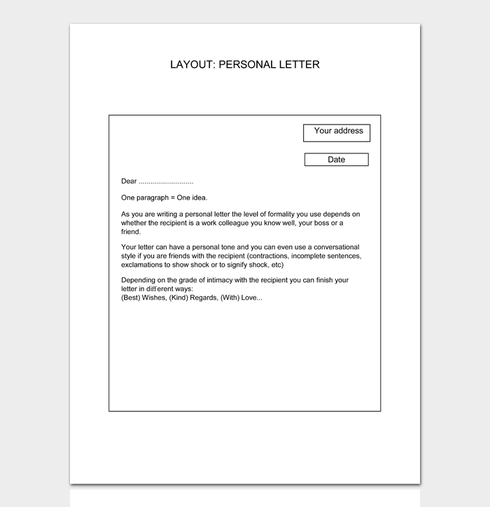 LAYOUT PERSONAL LETTER