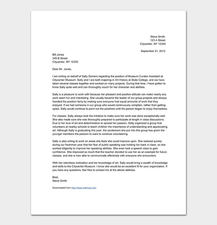 Letter of Recommendation Templates #02