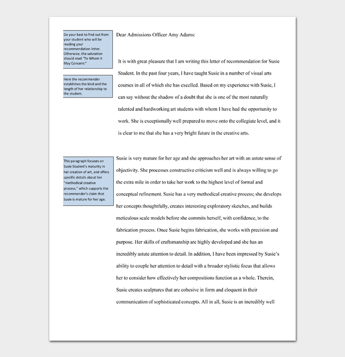 Letter of Recommendation Templates #05
