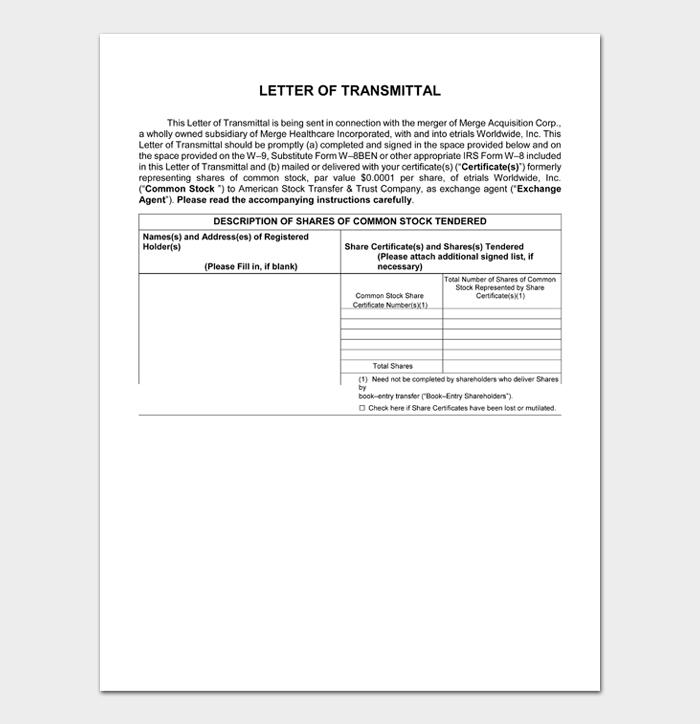 Letter of Transmittal #04