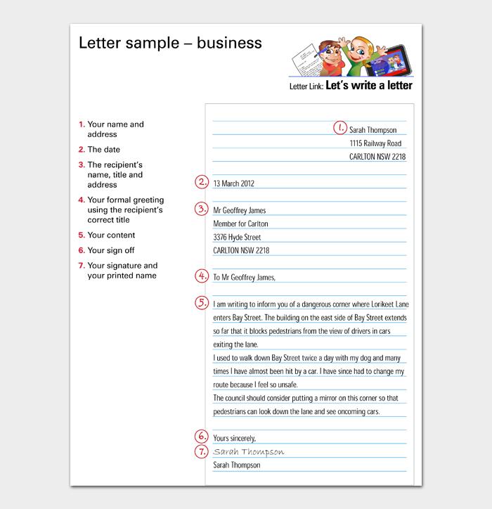 Letter sample – business
