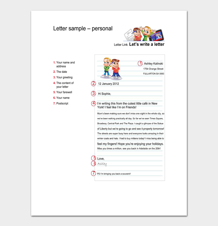 Letter sample personal