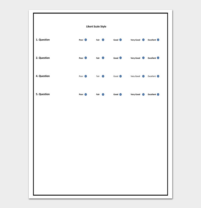Likert Scale Templates #06
