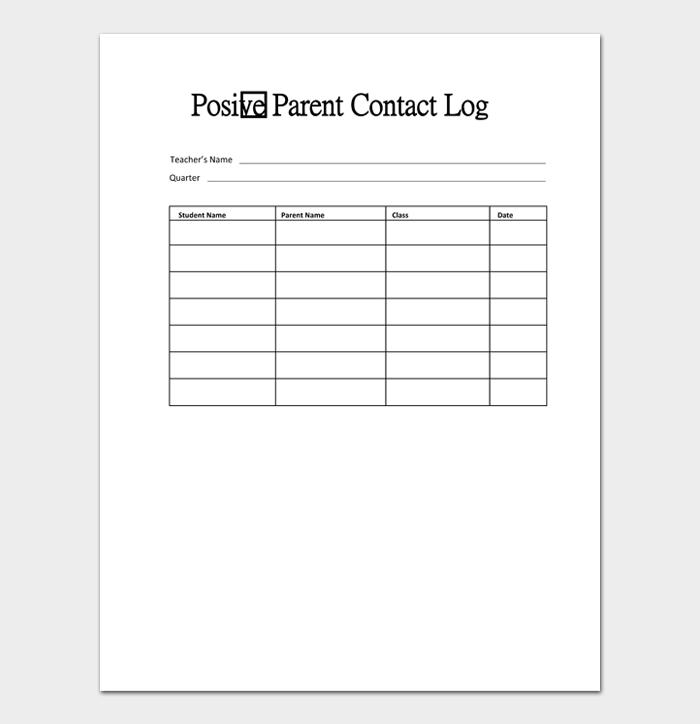 Parent Contact Log #05
