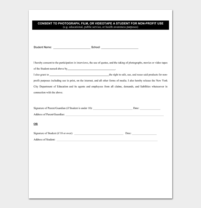 Photo Release Form #01