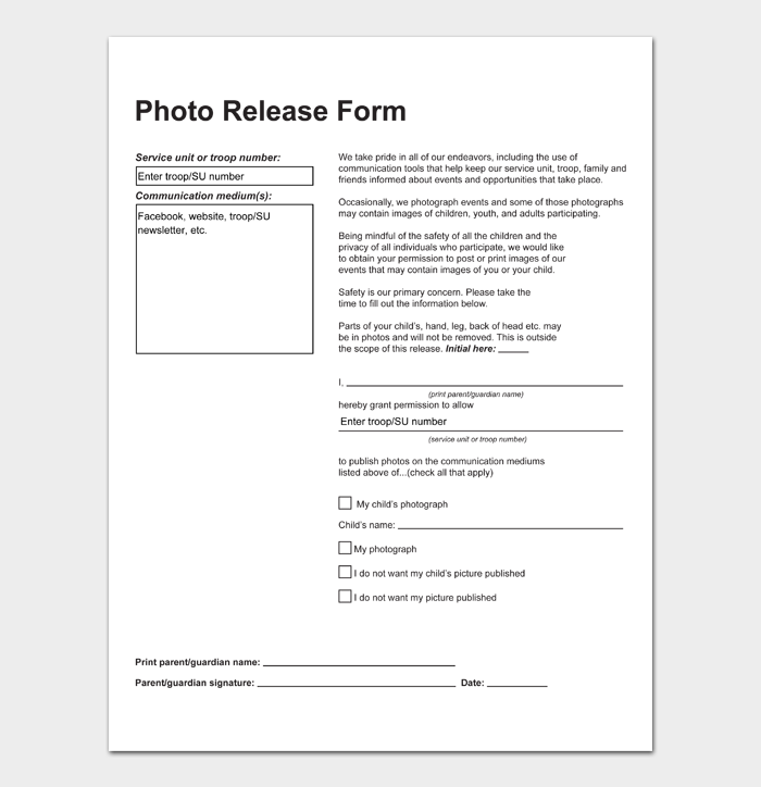Photo Release Form #06