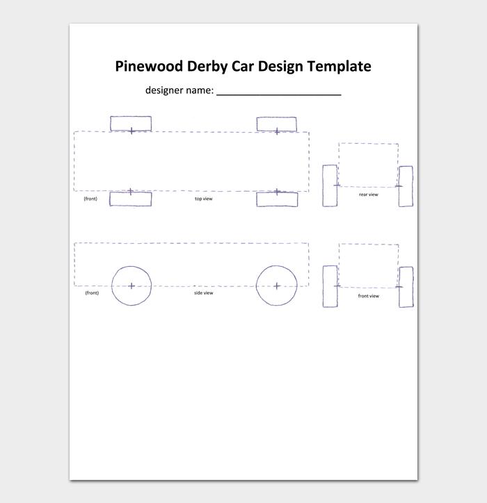 Pinewood Derby Car Design Template
