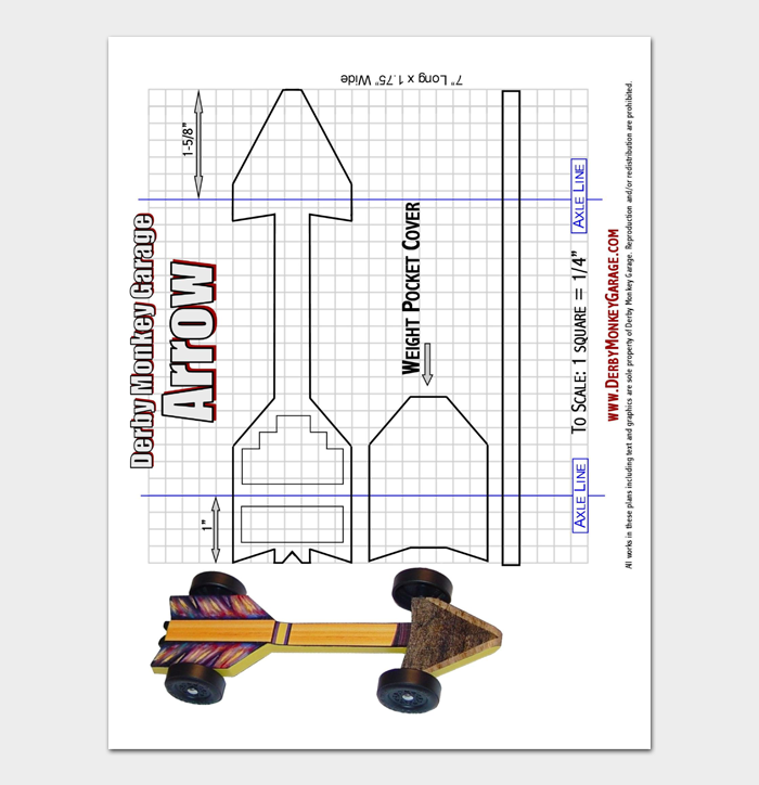 Pinewood Derby Car Designs & Templates #01