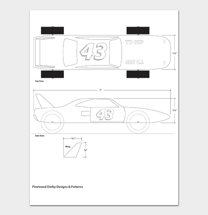 Pinewood Derby Car Designs & Templates #02