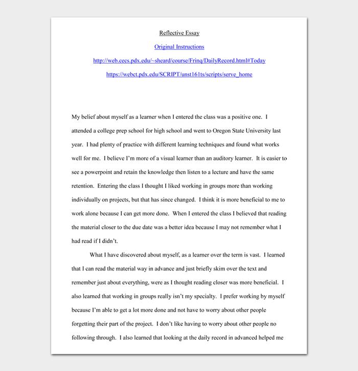Reflective Essay #01