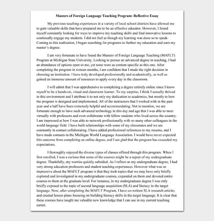 Reflective Essay #05