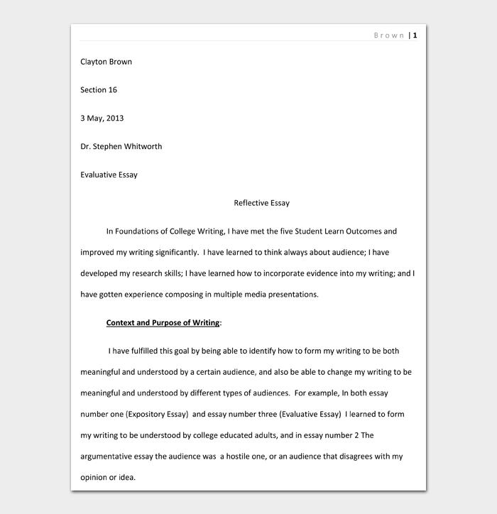 Reflective Essay #06
