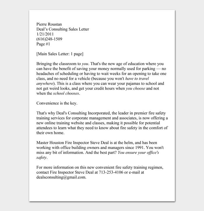 Sales Letter #02