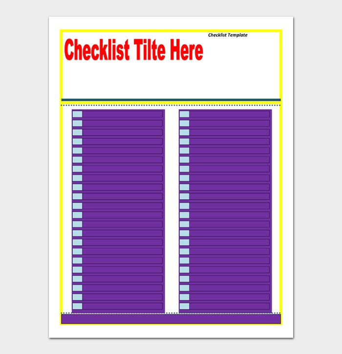 Task List Template #06