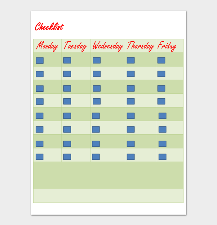 Task List Template #09
