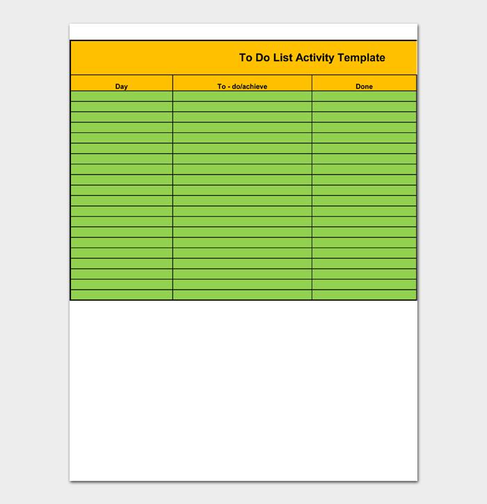 Task List Template #10