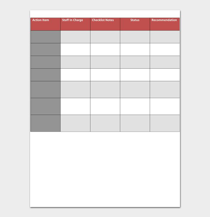 Task List Template #12