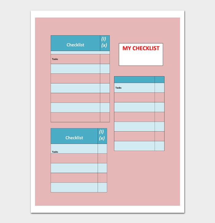 Task List Template #13