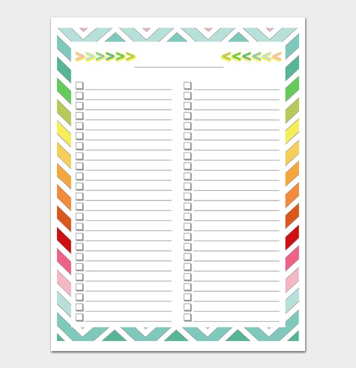 Task List Template #14