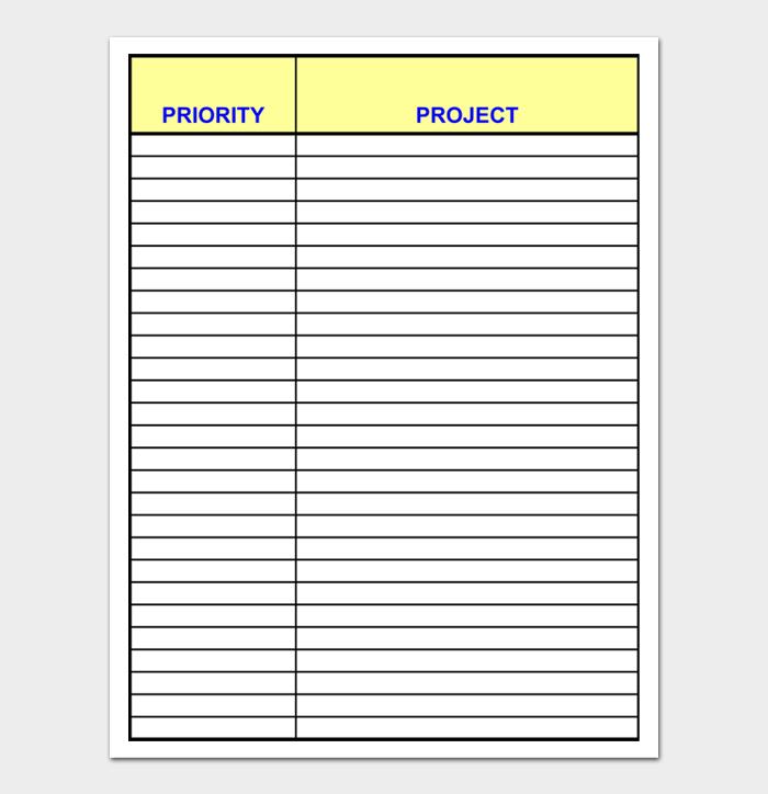 Task List Template #17