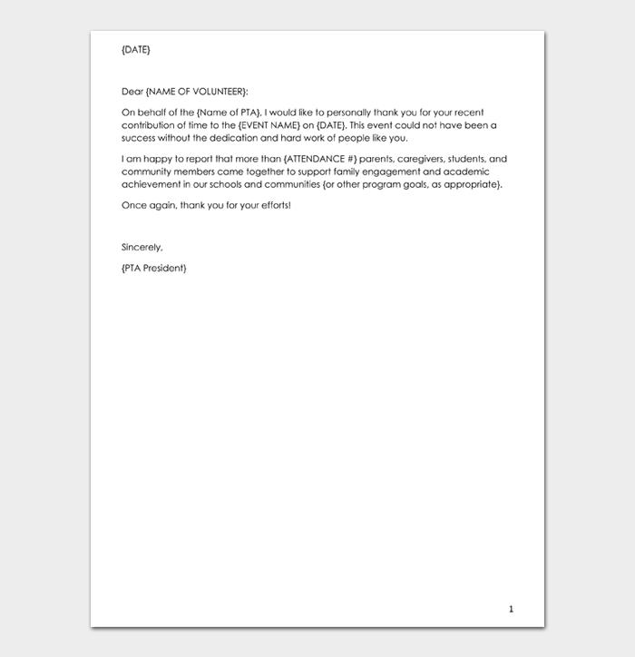 Volunteer thank you letter #02