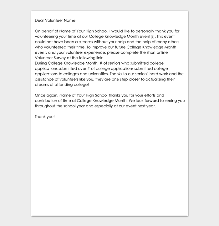 Volunteer thank you letter #03