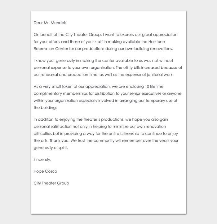 Volunteer thank you letter #08