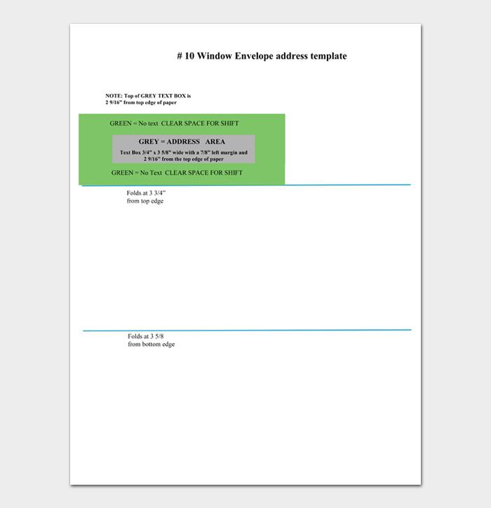 Window Envelope address template