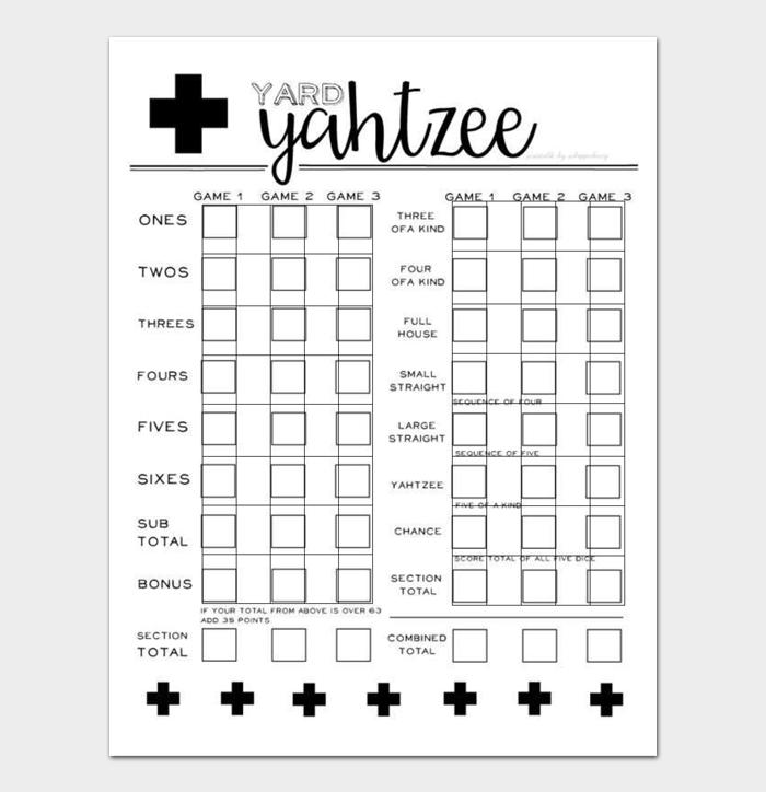 Yahtzee Score Sheets #06