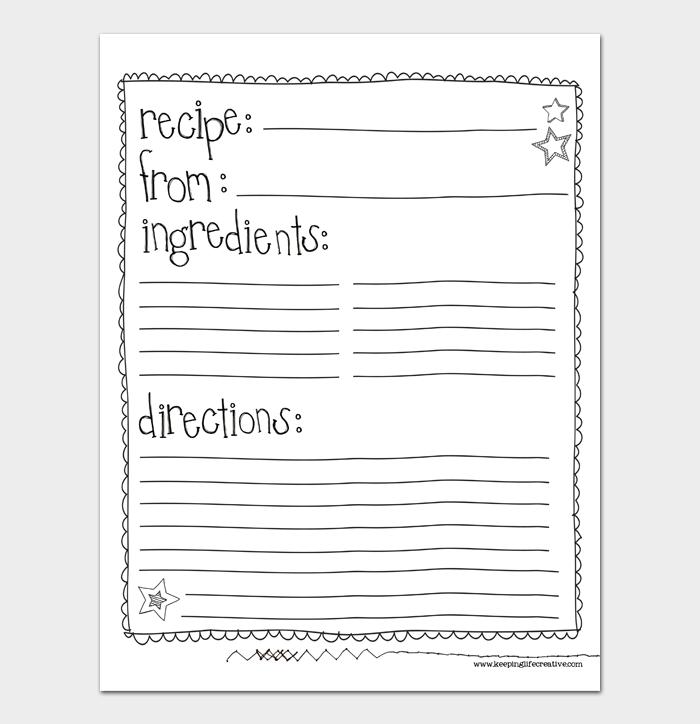 cookbook template #10