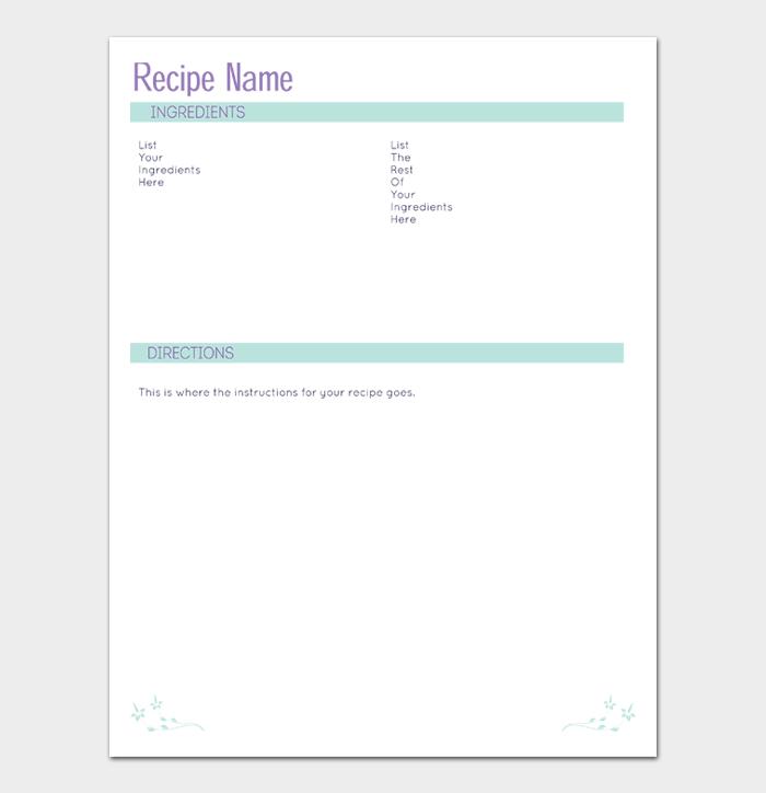 cookbook template #12