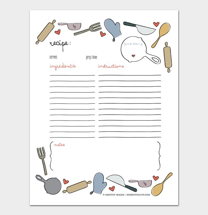 cookbook template #15