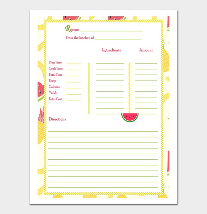 cookbook template #17