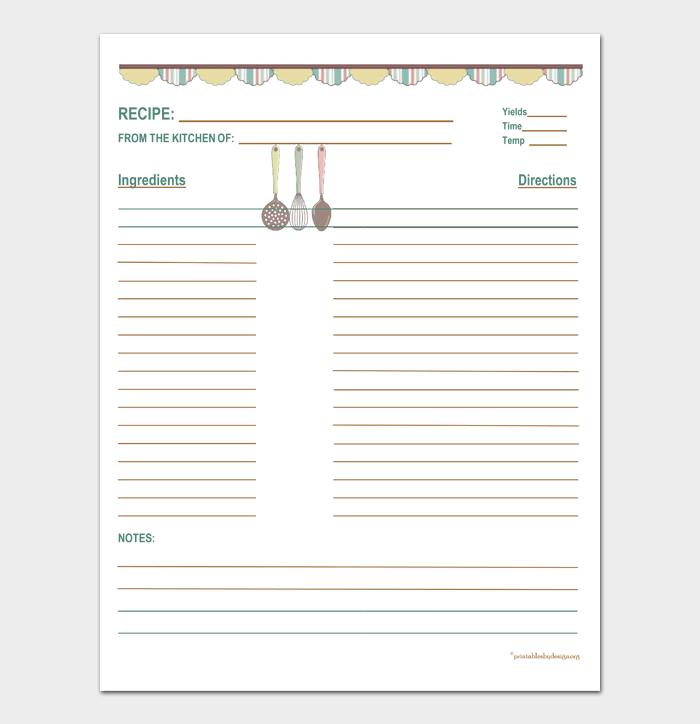 cookbook template #18