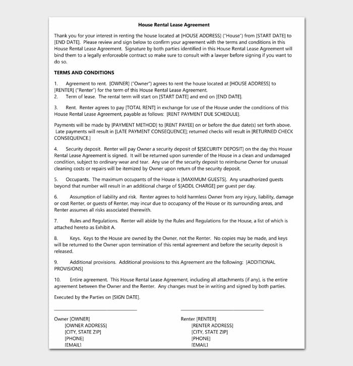 02 simple one page rental agreement