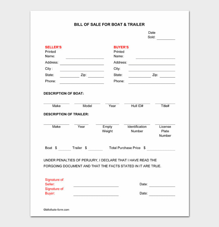 03 bill of sale for trailer