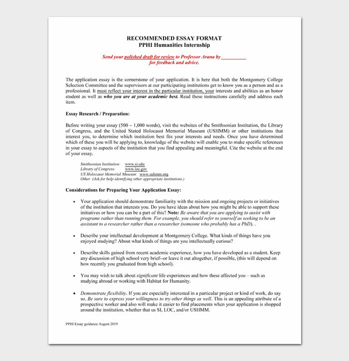 03 college essay format