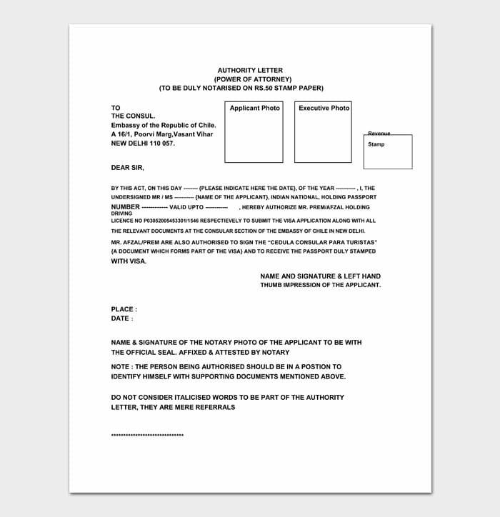05 power of attorney letter