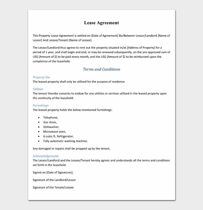 05 simple one page rental agreement