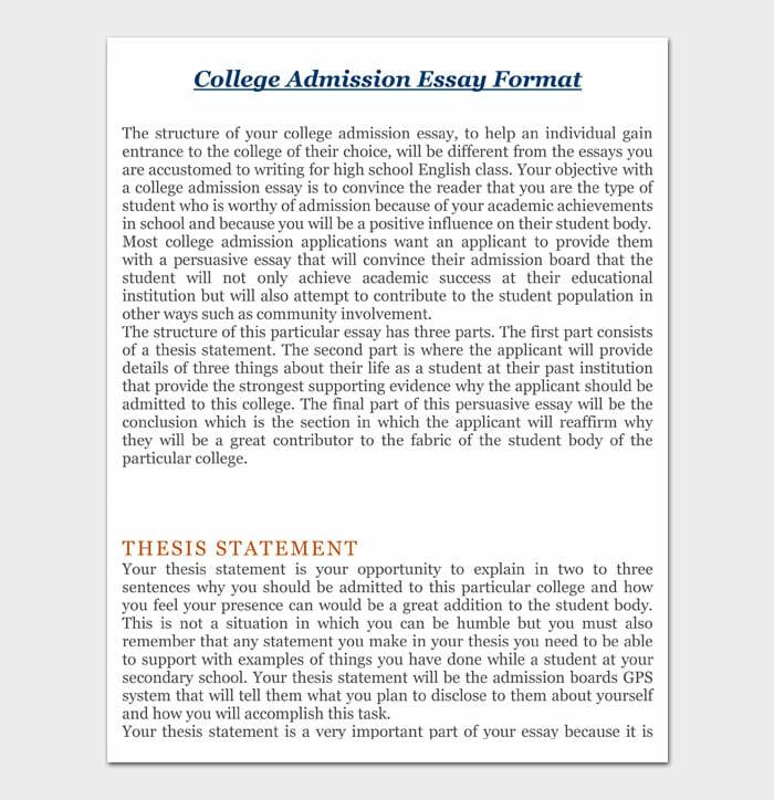 06 college essay format