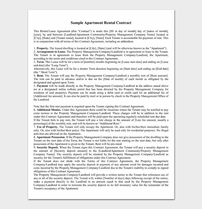 06 simple one page rental agreement