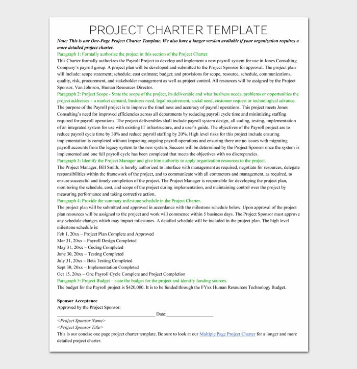07 Project Charter Template