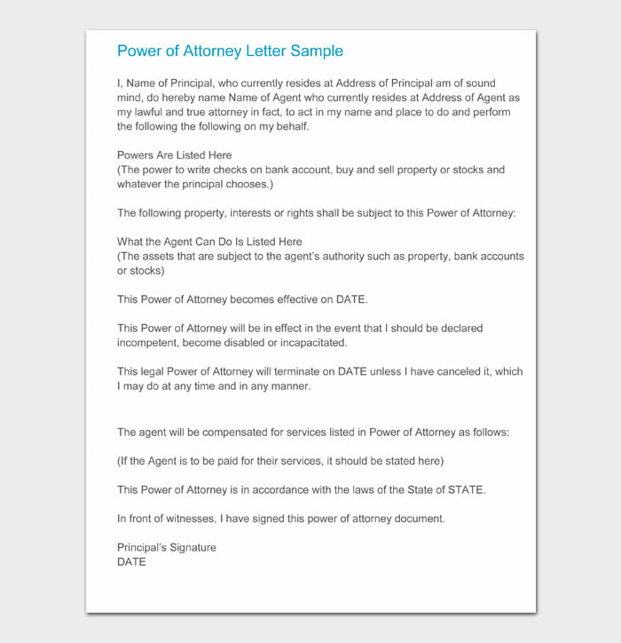 07 power of attorney letter