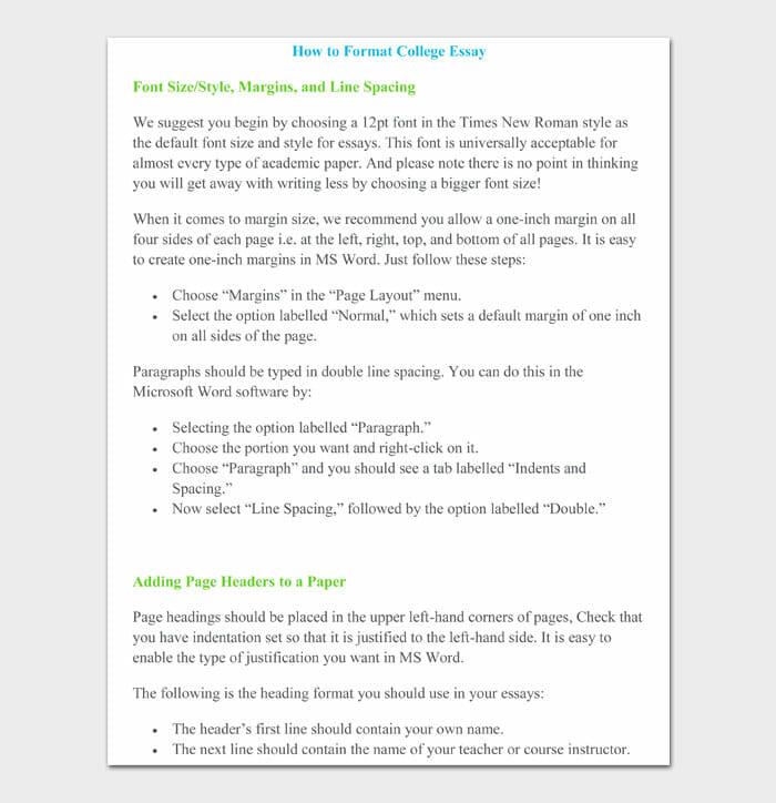 09 college essay format