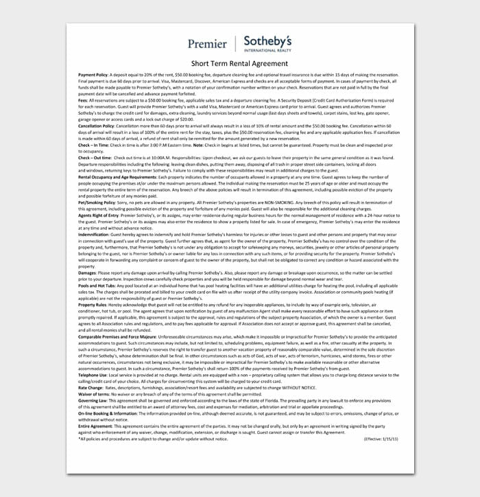 09 simple one page rental agreement