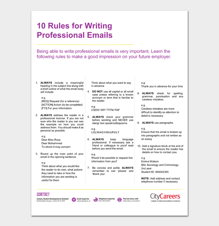 10 Rules for Writing Professional Emails