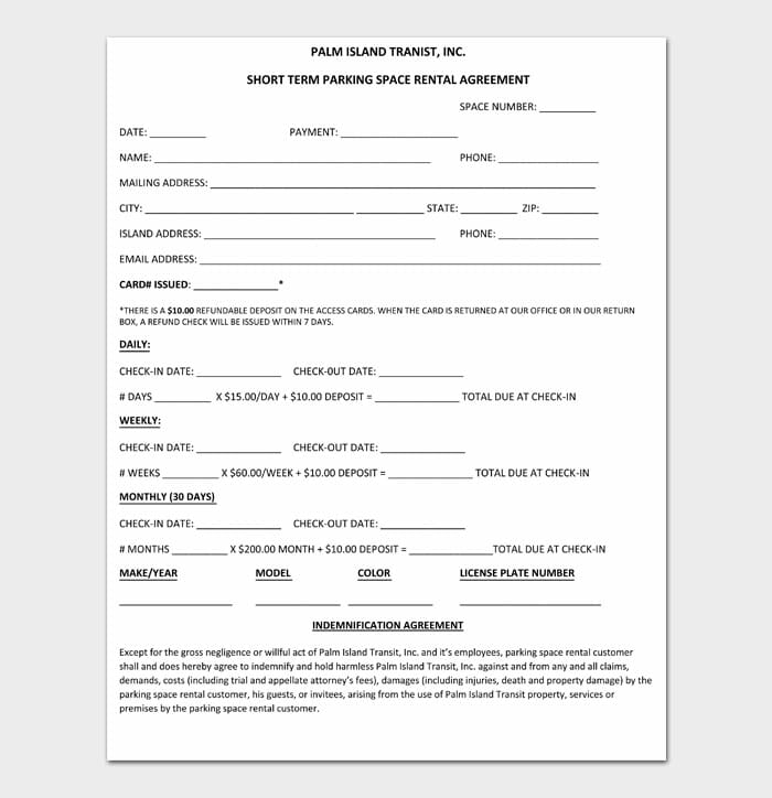 11 simple one page rental agreement