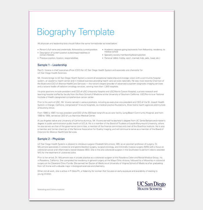Biography Template #05