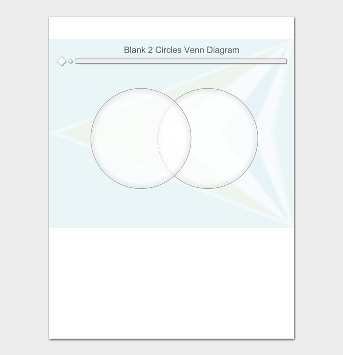 Blank 2 Circles Venn Diagram