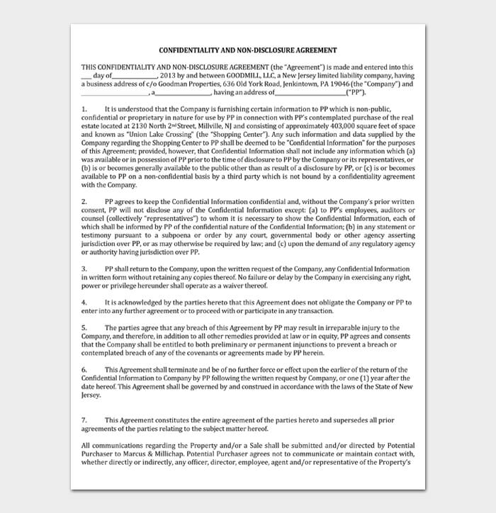 CONFIDENTIALITY AND NON‐DISCLOSURE AGREEMENT